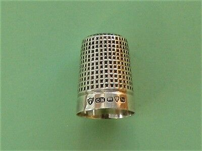 Solid Silver Thimble - Charles Horner - Chester Hallmark 1919