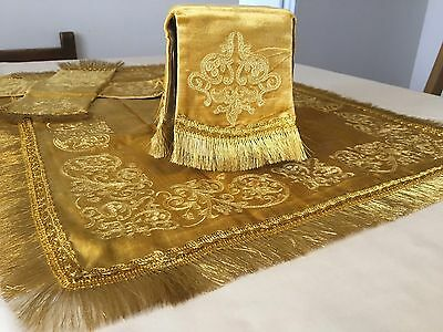 Chalice Covers Orthodox  Embroidered Gold color