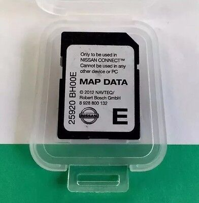 Genuine Nissan 2012 CONNECT Satellite Navigation Sat Nav SD Card 25920 BH00E