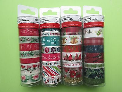 Recollections Christmas Noel Washi Crafting Tape Lot