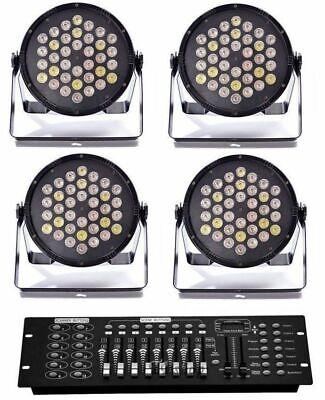 SET LUCI DMX COMPOSTO DA : 4 par 36 led + 1 mixer dmx ART. SETDMX1