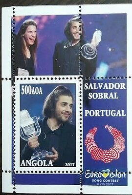 the Eurovision winner from Ukraine 2017 Portugal in Salvador Sobral Angola