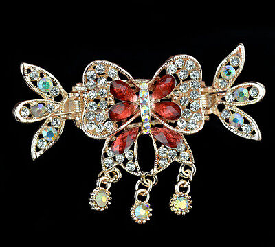 nice women jewelry rhinestone barrette hair clip comb crown crystal hairpiece