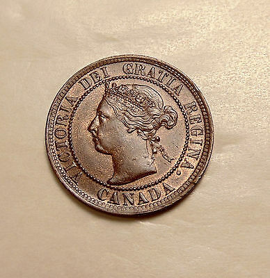 1900-H Canada Large Cent - Sharp Looking AU Coin