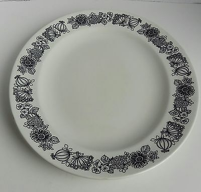 Vintage Retro Manitou By Grindley Serving Platter Floral Black And White Oval