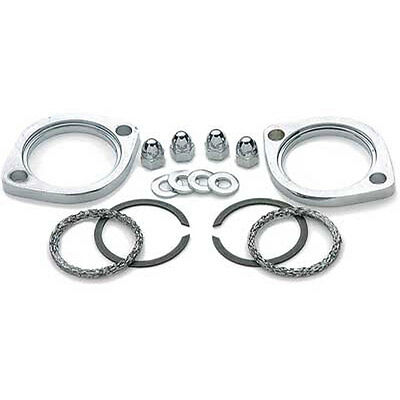 Complete Exhaust Flange Gasket Kit Harley Dyna Sportster Softail Evo Twin Cams