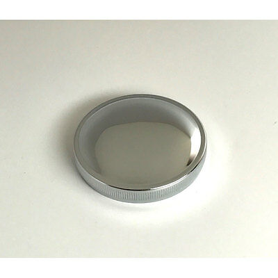 """GAS CAP SCREW IN VENTED HARLEY BIG TWIN SPORTSTER LOW DOMED 1//8/"""" KNURLED CHROME"""