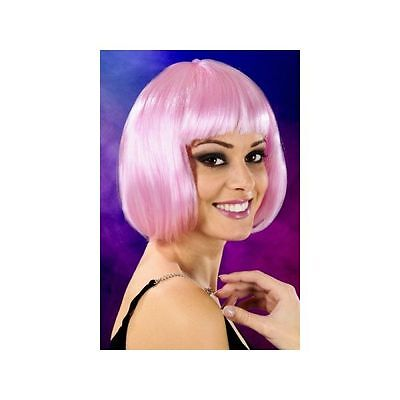 Perruque cheveux courts rose