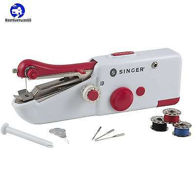 Cordless Repair Singer Portable Stitch Sew Hand Held Sewing Machine Quick Handy