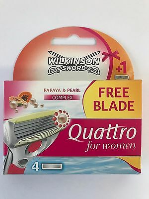 4 x  Wilkinson Sword Quattro For Women Razor Blades - ( 1 x 4 pack total)