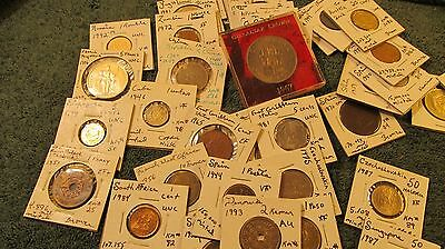 "World Coins 50 Coins Set in 2"" by 2"" holders  Hand Picked  1800's to 2000's"