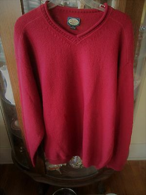 Tommy Bahama Mens Red 100% Cotton Sweater,v-Neck Pullover-Never Worn -Size Xl