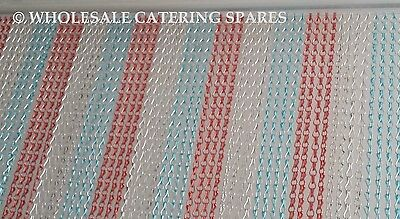 Metal Aluminium Chain Fly Pest Insect Door Screen Curtain RED/BLUE/SILVER