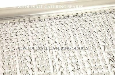 Door Fly Curtain Aluminium Metal Chain Pest Control Insect Screen Blind SILVER