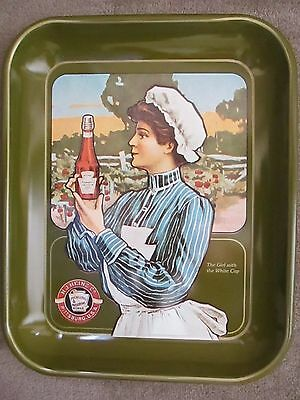 H.J. Heinz Co. Advertising Metal Tray Girl with the White Hat