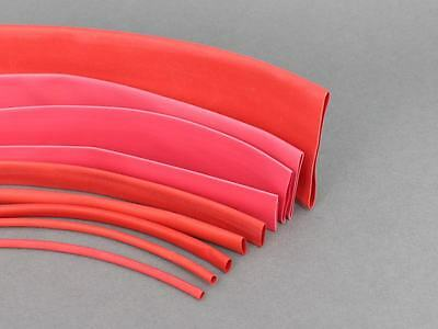 Various Sizes & Lengths Red Heat Shrink Tube Sleeving Car Wire Wrap Heatshrink