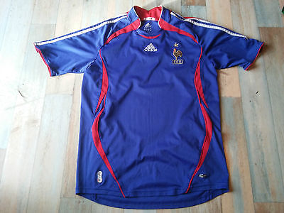 Maillot FOOT ADIDAS EQUIPE FRANCE FFF COQ ETOILE TAILLE/M/D5 TBE