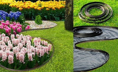 Plastic garden black edge,40 meters edging for paths,borders.lawn+120 pegs