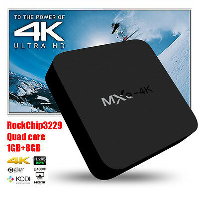 2017 NEW MXQ-4K Smart Android TV BOX Mega 16.1 Media Streaming KODI Player FILM