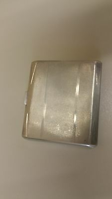 Art Deco solid silver cigarette case from W.Mumfords of plymouth