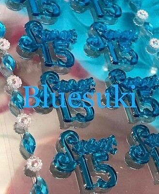 20 Acrylic Self Adhesive Sweet 15 Stickers with 4 Decorative Strips Craft