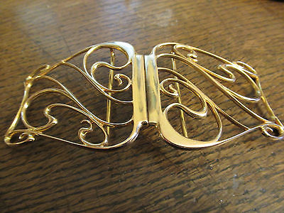Art Nouveau  1900  hallmarked 9ct gold Deakin & Francis Nurses belt buckle, 45.5