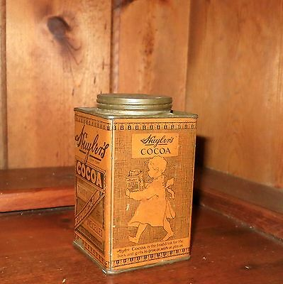 Antique/Vintage  Huyler's Cocoa Tin 1/2 Lb. Net New York