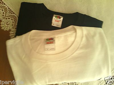 """Lotto 2 T-Shirt Uomo """"fruit Of The Loom"""" Tg M (48) Come Nuove"""