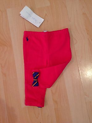 Polo Ralph Lauren Girl's Pink Bow Back Leggings For 6 Months BNWT
