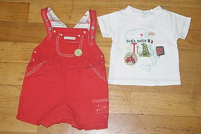 Ensemble Ete /  Sergent Major /  Salopette Courte  + T-Shirt M.c 3 Mois Tbe