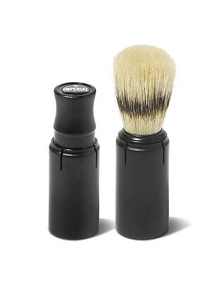 Imperial Barber Products Mens Travel Shave Shaving Natural Boar Bristle Brush