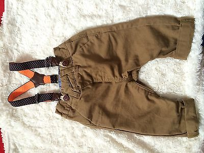 Baby Boy Next Chinos With Braces 3-6months