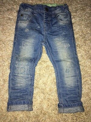 Next Baby Boy Faded Light Skinny Jeans Age 12-18 Months