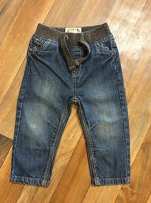 Boys Tu Ribbed Waist Jeans Age 12-18 Months Excellent Condition