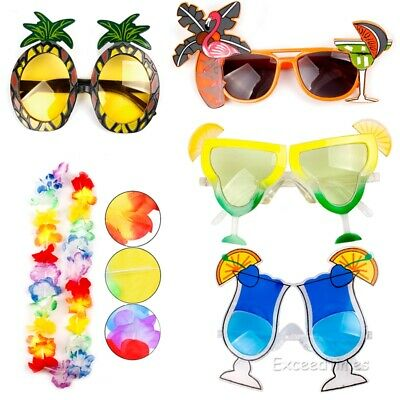 Hawaiian Lei Novelty Sunglasses Glasses Summer Beach Fancy Dress Hen Luau Party