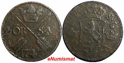 Sweden Frederick I 1747 2 Ore, S.M.Avesta Mint. Low Mintage-403,000  KM# 437