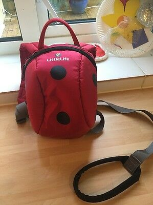 Little Life Ladybird Toddler Backpack/ Bag with Reins - Superb Condition
