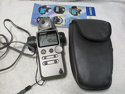 Sekonic Super Zoom Master Light Meter Model L-608 with box great condition