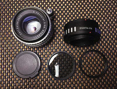 CARL ZEISS JENA 50mm  PANCOLAR (Exakta mount) ZEBRA FUJI X MOUNT ADAPTER