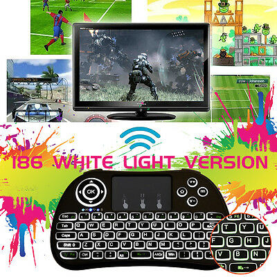 2.4Ghz Wireless Keyboard Air Mouse Touchpad Backlit For Kodi Smart TV Q Box PC