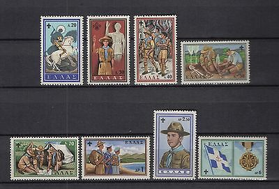 Greece 1960 Boy Scouts Set Sc669-676 8 Stamps MNH