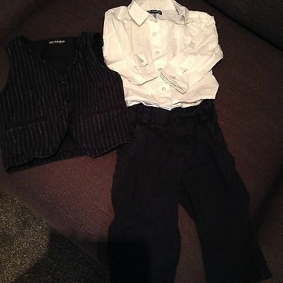 Mark's And Spencer Boys 3 Piece Wedding Suit Formal Christening