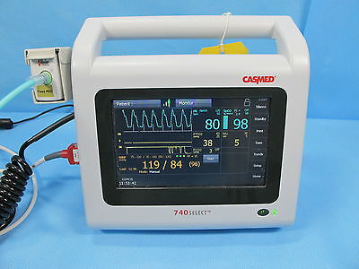CASMed 740 Select Patient Monitor w/ Masimo SpO2, NIBP, ETCO2, and Warranty, CO2