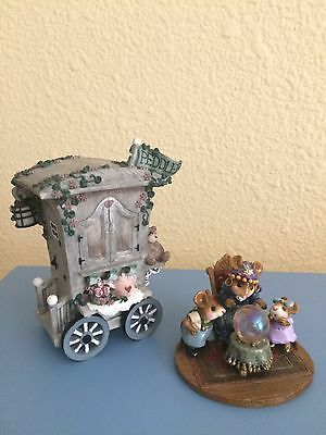 Wee forest folk Crystal Clear with Ivy and Innocence Peddler  wagon