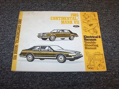 1987 lincoln mark vii 7 continental electrical wiring vacuum 1985 lincoln continental mark vii 7 electrical wiring vacuum diagram manual