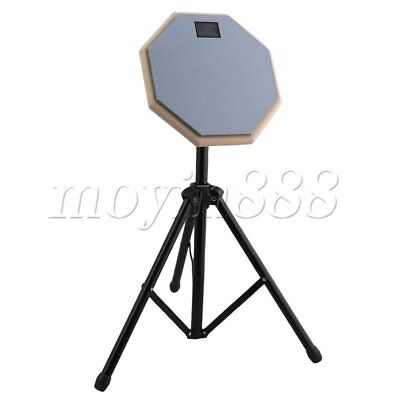 Professional 8inch Drum Practice Pad with Folding Adjustable Stand Gray