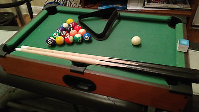 "Table-Top Mini Pool Table 20'x12'x4"" New Condition!"