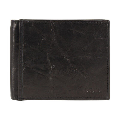 Fossil Ingram Men's Black Small RFID Bifold With Flip ID Wallet ML3784
