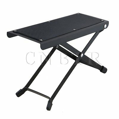 Metal 6-Position Guitar Foot Rest with 11.5-25.5cm Adjustable Height