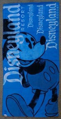 Disneyland Resort Mickey Mouse Beach Towel Color Aqua Blue/Black/White New